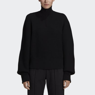 Y-3 CH3 High Neck Sweater Noir Femmes Y-3
