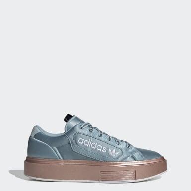 Ženy Originals modrá Tenisky adidas Sleek Super