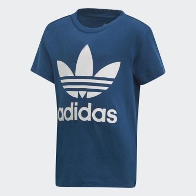Camiseta Trefoil Azul Niño Originals