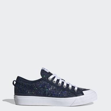 Women Originals Blue Nizza Low Shoes