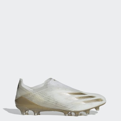 Football White X Ghosted+ Artificial Grass Boots