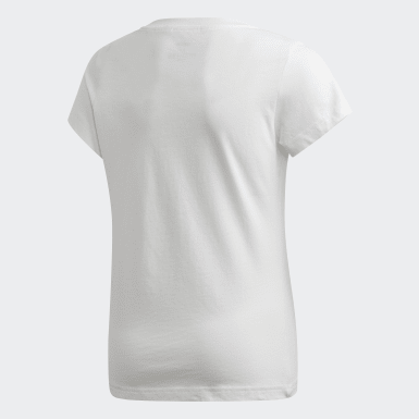 Remera Essentials Linear Blanco Niña Athletics