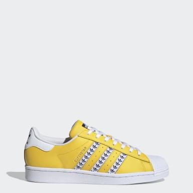 Chaussure Superstar jaune Hommes Originals