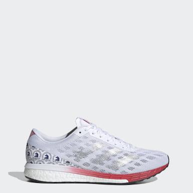 Männer Running Adizero Boston 9 Schuh Weiß