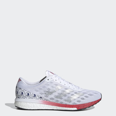 Men's Running White Adizero Boston 9 Shoes