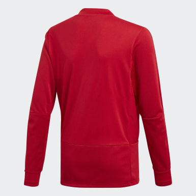 Camiseta manga larga entrenamiento Condivo 18 Player Focus Rojo Niño Training