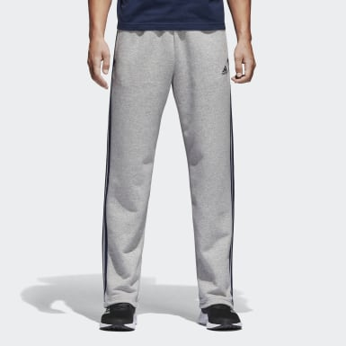 серый Флисовые брюки-джоггеры Essentials 3-Stripes
