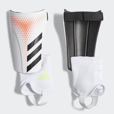 Football White Predator 20 Match Shin Guards