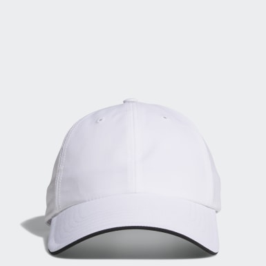 Men Golf White Relax Performance Crestable Cap