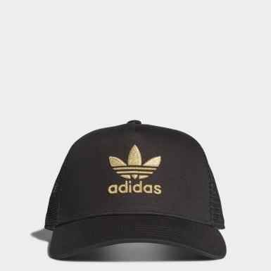 Originals Black Adicolor Gold Trucker Cap