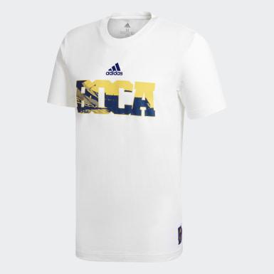 Remera Estampada Boca Juniors Street Blanco Hombre Fútbol