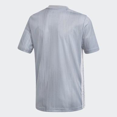Camisa Tiro 19 Cinza Meninos Futebol