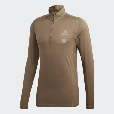 Men Lifestyle Beige adidas x UNDEFEATED Running Half-Zip