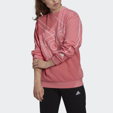Women Sport Inspired Pink adidas Giant Logo Sweatshirt (Gender Neutral)
