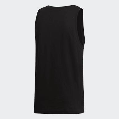 Camiseta sin mangas Trefoil Negro Hombre Originals