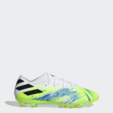 Football White Nemeziz 19.1 Artificial Grass Boots