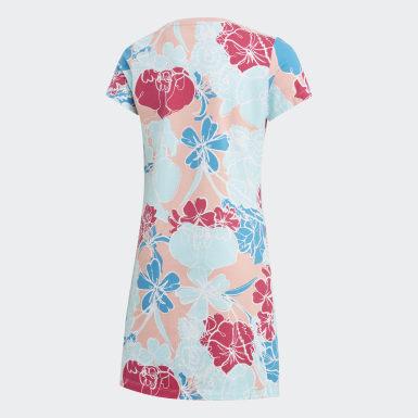 เด็กผู้หญิง Originals สีชมพู ชุดกระโปรงเสื้อยืด