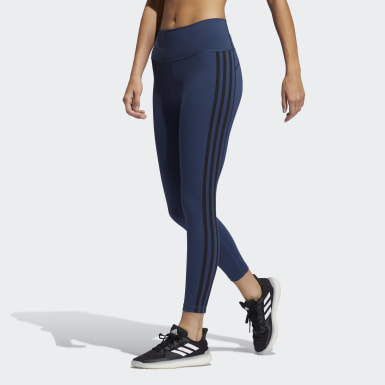 Women Training Blue Believe This 2.0 3-Stripes 7/8 Tights