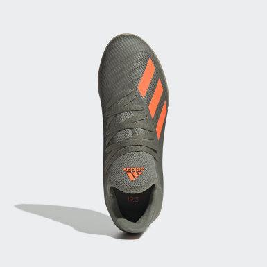 Calzado de Fútbol X 19.3 Bajo Techo Verde Niño Fútbol