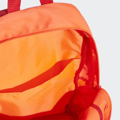 Tennis Orange Classic 3-Stripes Backpack