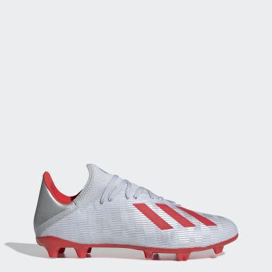ฟุตบอล สีเงิน รองเท้าฟุตบอล X 19.3 Firm Ground
