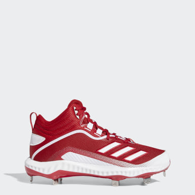 Men's Baseball Red Icon 6 Bounce Mid Cleats
