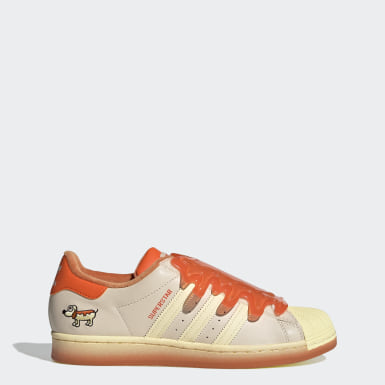 Men Originals Beige Superstar Shoes