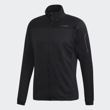 Men's Hiking Black Terrex Stockhorn Fleece Jacket
