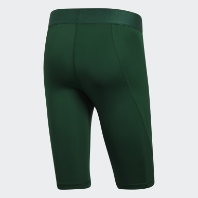 Men's Yoga Green Alphaskin Sport Short Tights