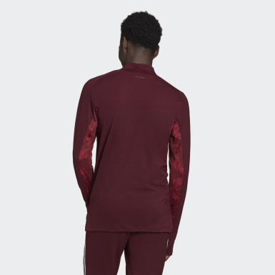 Men Football Burgundy Real Madrid Ultimate Training Top