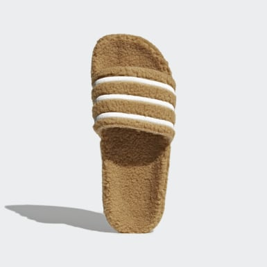 Women Originals Brown Adilette Slides