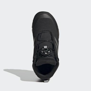 Kids TERREX Black Terrex Winter Mid Boa Hiking Shoes