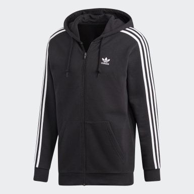 Herr Originals Svart 3-Stripes Hoodie