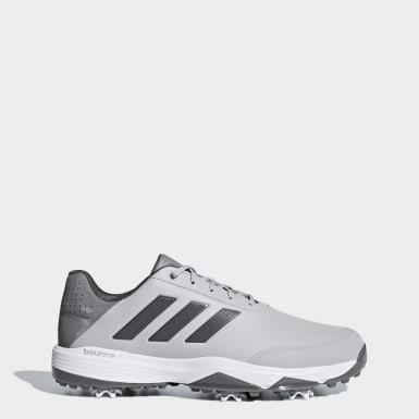 Men Golf Grey adipower Bounce Wide Shoes