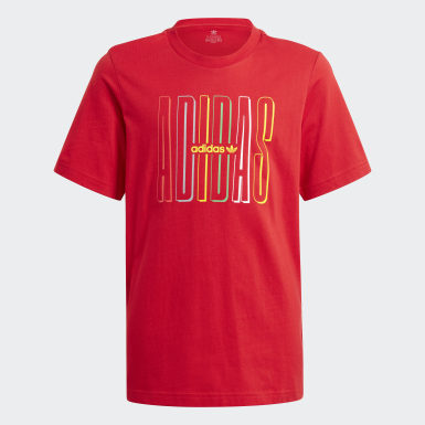 Kinder Originals Graphic Logo Print T-Shirt Rot