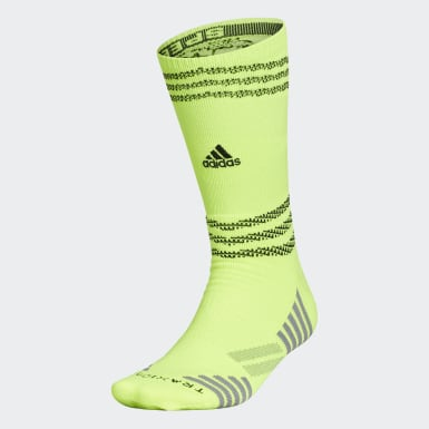 Football Yellow Speed Mesh Team Crew Socks