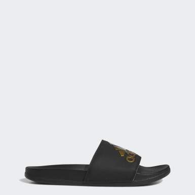 Men Essentials Black Adilette Comfort Slides