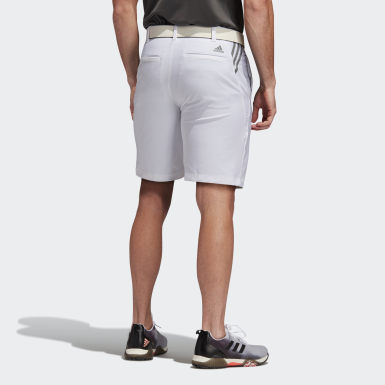Men Golf White Ultimate365 3-Stripes Shorts