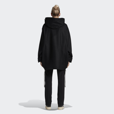 Women Y-3 Black Y-3 CH3 Duffel Coat