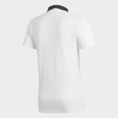 Men Football White Condivo 18 Cotton Polo Shirt