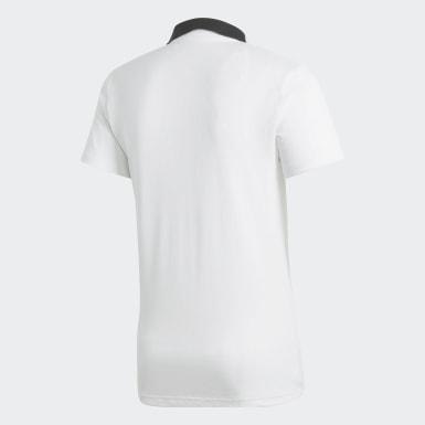 Men Football White Condivo 18 Cotton Polo Shirt