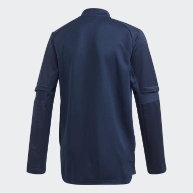 Kinder Fußball Spanien Trainingsjacke Blau