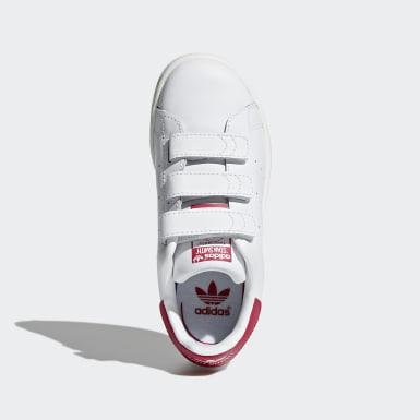 เด็กผู้หญิง Originals สีขาว รองเท้า Stan Smith