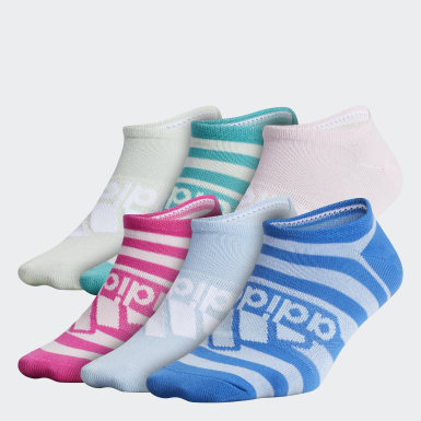 Children Training Multicolor Superlite Badge of Sport No-Show Socks 6 Pairs