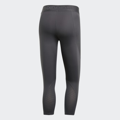 Mallas Alphaskin Sport 3/4 Gris Hombre Training