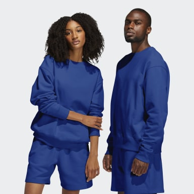 Felpa Pharrell Williams Basics Crew (Unisex) Blu Originals