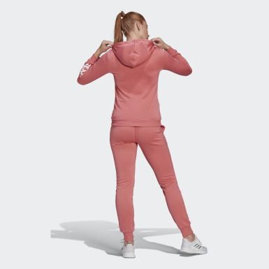 Women Athletics Pink Essentials Logo French Terry Tracksuit