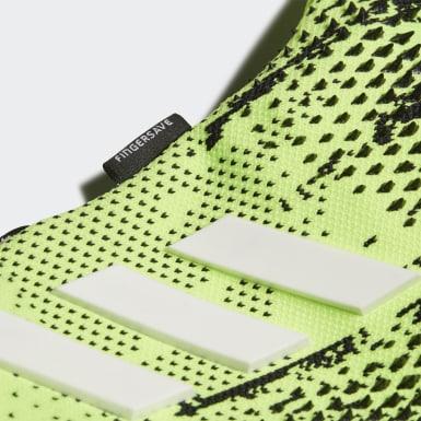 Fotbal zelená Rukavice Predator 20 Pro Fingersave