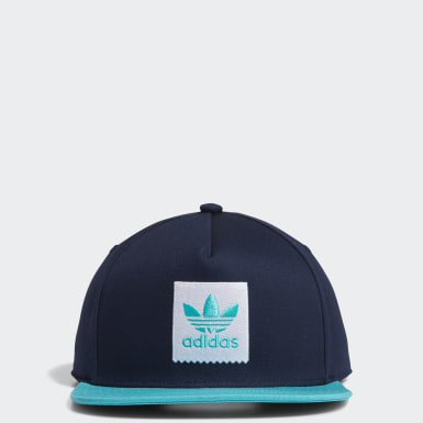 Boné Two-Tone Trefoil Snapback Azul Originals