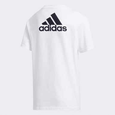 Youth Training White Badge of Sport Tee